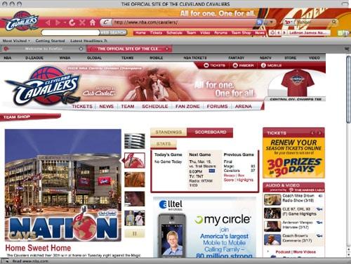 Cavaliers theme for Mozilla Firefox