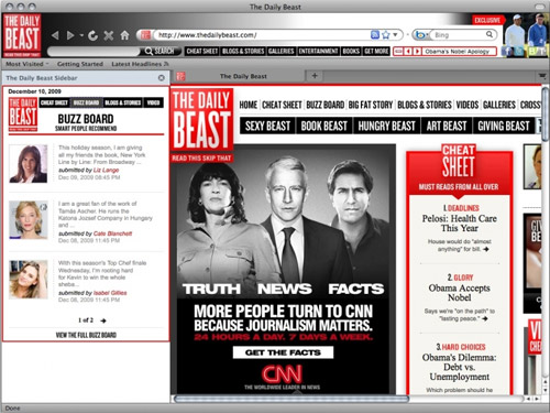 The Daily Beast Browser theme