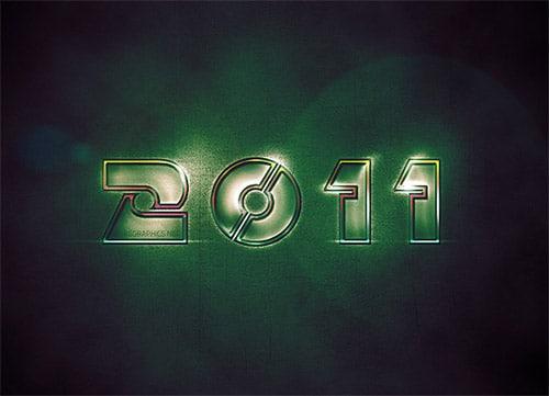 Design a futuristic 2011 wallpaper