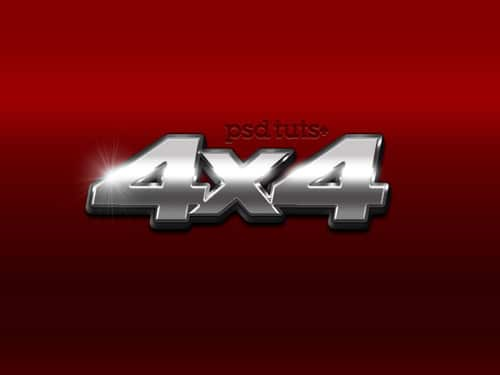 Create a Chrome 4x4 Vehicle Emblem