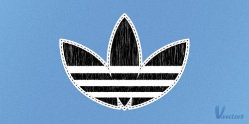 Create a Sewed Adidas Logo