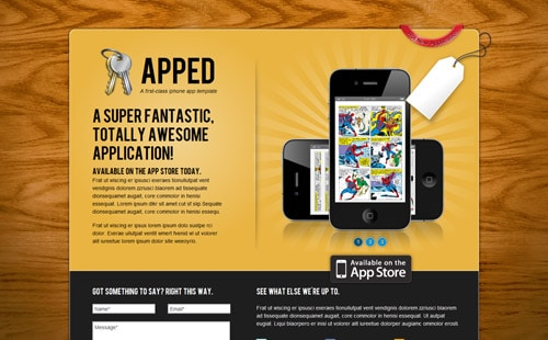 Apped — Application Landing Page