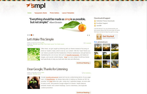 Smpl WordPress Theme