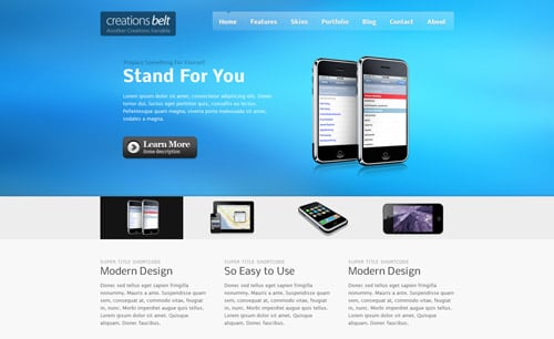 Creations Belt – Portfolio And Business WordPress Theme