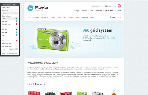 Shoppica – Premium Open Cart Theme