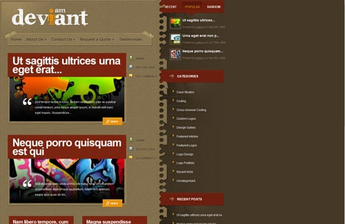 Deviant WordPress Theme