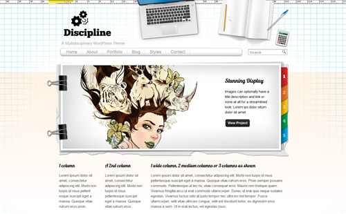 Discipline WordPress Theme