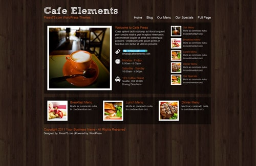 Cafe Elements theme