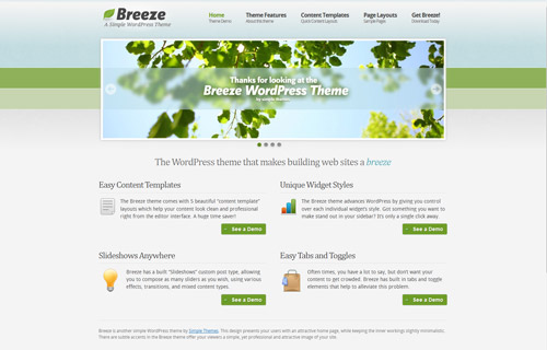 Breeze WordPress ThemeTheme