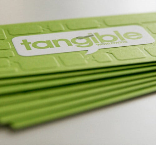 Business Card for: Tangible Worldwide