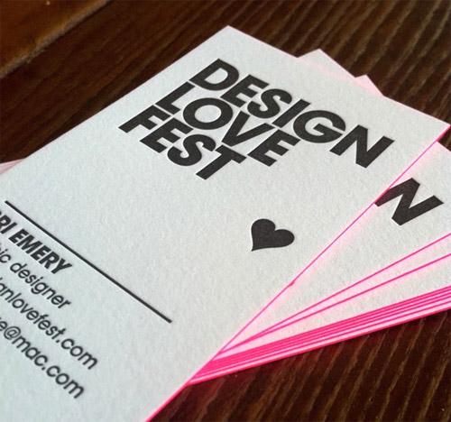 Business Card for: Design Love Fest