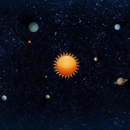Vector Solar System - iPad Wallpaper