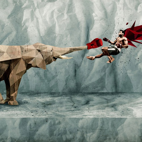 Elephant Punch - iPad Wallpaper