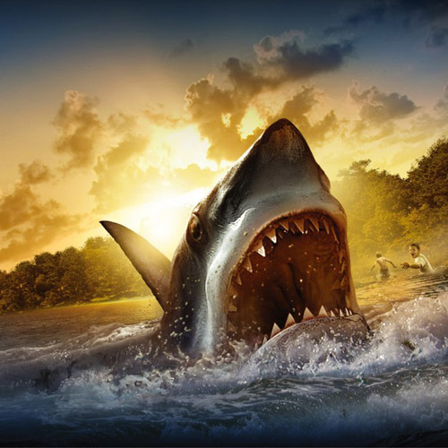 Shark Attack - iPad Wallpaper