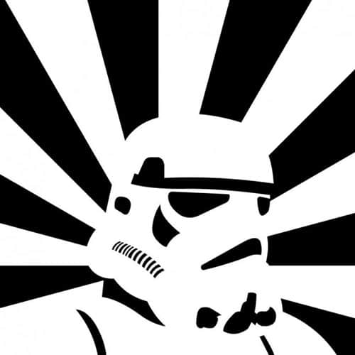 Retro Storm Trooper - iPad Wallpaper