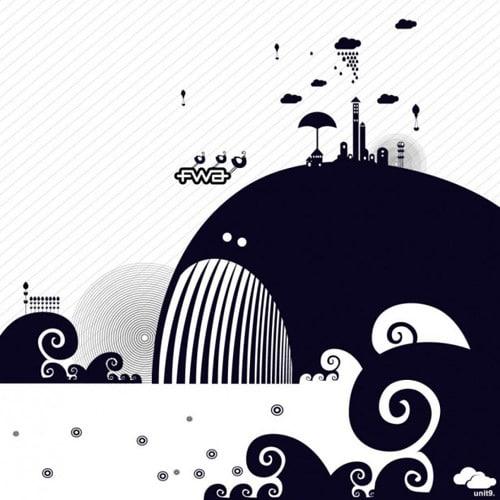 Vector Whale - iPad Wallpaper