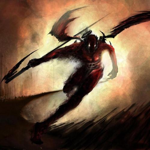 Evil Flying Demon - iPad Wallpaper