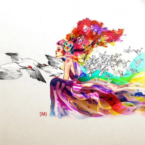 Color Goddess - iPad Wallpaper