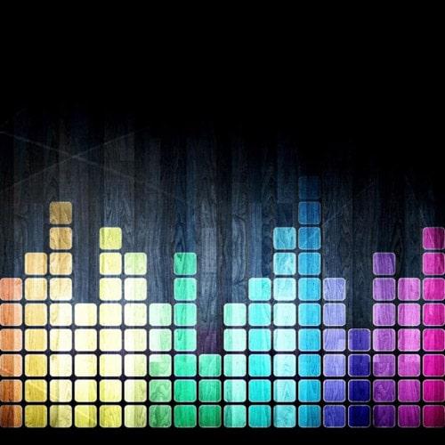 Rainbow Digital Audio - iPad Wallpaper