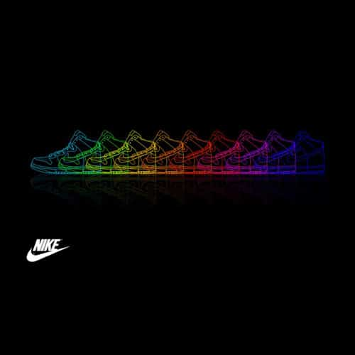 Rainbow Nike Shoes - iPad Wallpaper