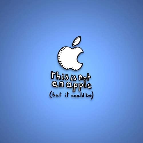 Not An Apple Logo - iPad Wallpaper