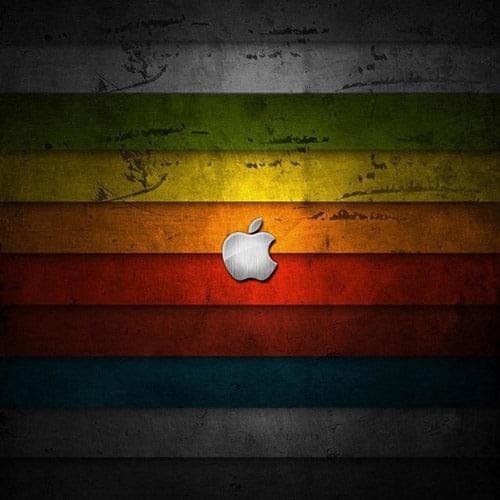 Rainbow Panel Apple - iPad Wallpaper