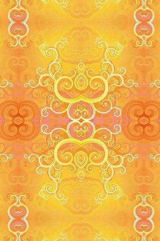 Golden Curls iPhone Wallpaper