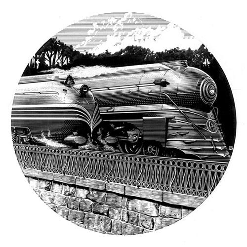 scratchboard artwork - Kent Barton