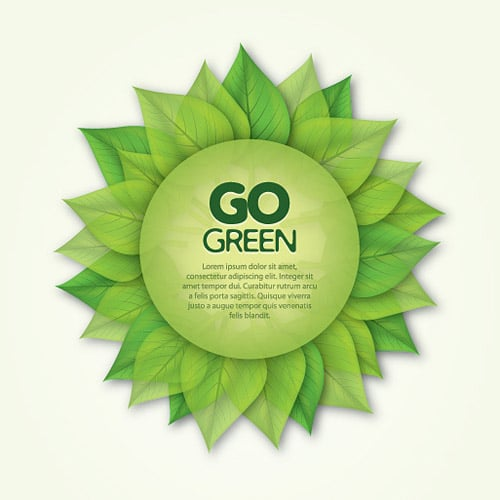 Go Green Poster Vector Graphic BY dryicons
