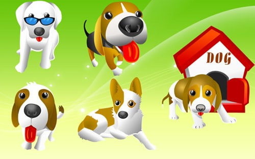 Vector Dogs BY Free Vector Download