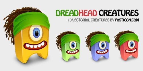 Vector Dreadhead Creatures BY Fasticon