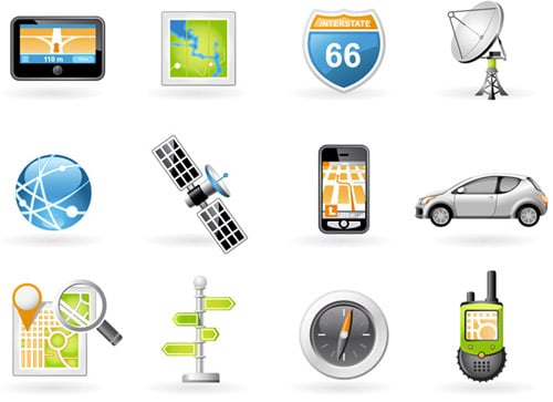 Navigation and Transport Icons BY webdesignhot