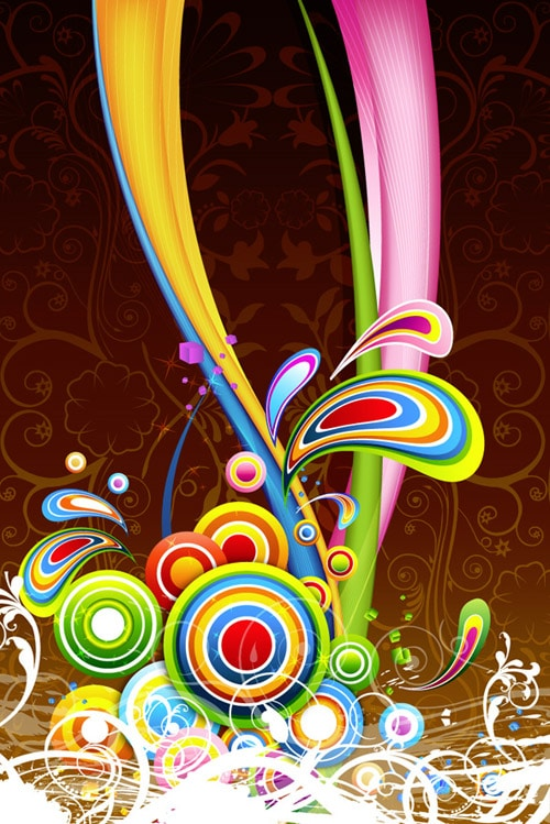 Floral colorful background BY Vector Fresh