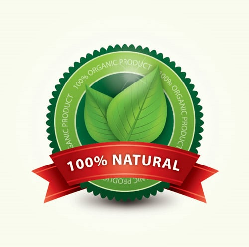 Organic Label Vector Graphic BY dryicons