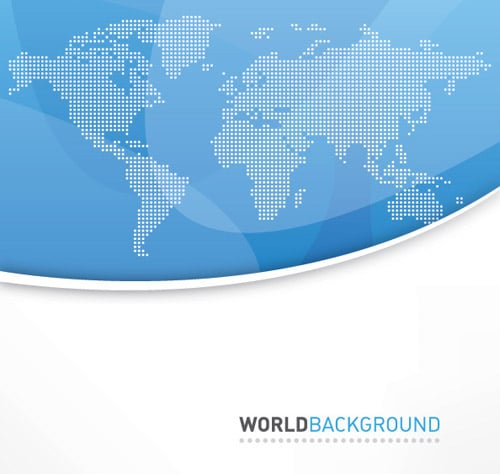World Background Vector Graphic BY dryicons