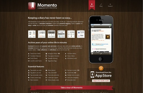 Momento - diary writing for iPhone and iPod touch