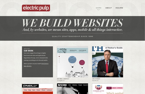 We build sites and apps for web and mobile. BTW, you look very nice today.