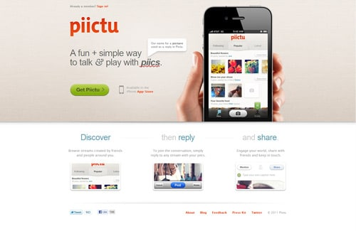 A fun and simple way to talk &; play with piics. Now available for iPhone in the App Store.