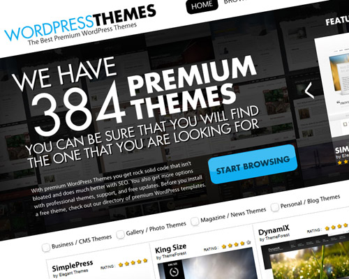 WordPress Themes - Over 380 premium WordPress templates<