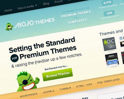 Buy and sell premium WordPress themes, templates and plugins for WordPress, Joomla, Magento, Tumblr and more on the MOJO Themes marketplace!