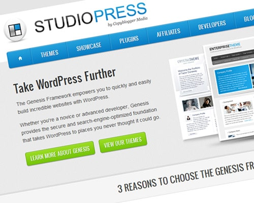 Professionally designed premium WordPress themes. StudioPress developed the Genesis Framework which is a powerful web-publishing tool.