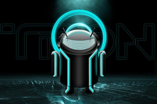Tron Android - Large Cyan by jairomeo
