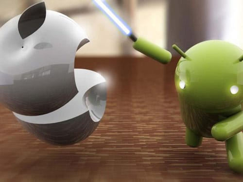 3D Android Vs Apple iPhone