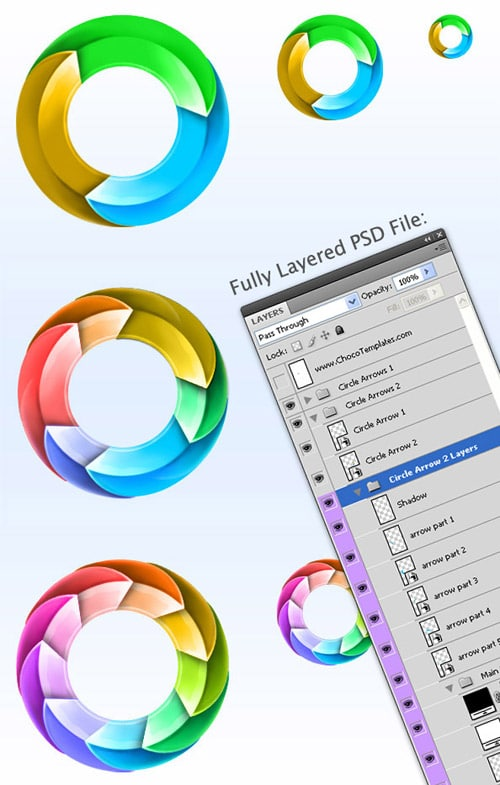Psd files 60 must have photoshop files for designers part2 circle arrows psd pack ccuart Images