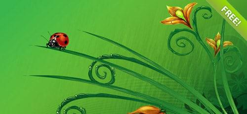 Floral Background Set