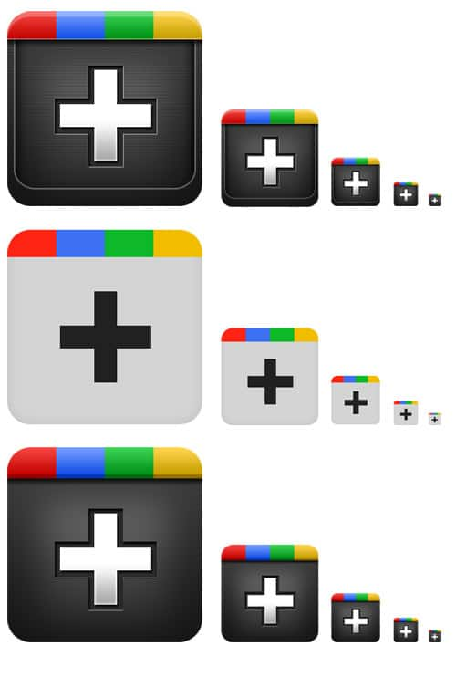 Google plus icons (PSD) - from GraphicsFuel