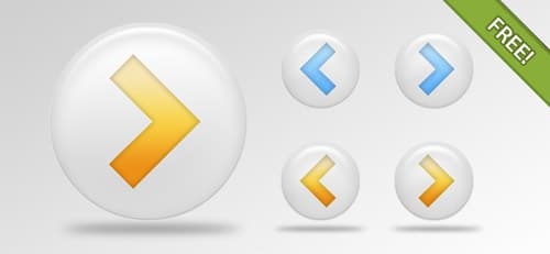 Free PSD Arrow Buttons Pack   FREE PSD FILES