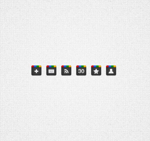 Google icons from 365psd