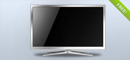 Fully Layered TV Set Illustration   FREE PSD FILES