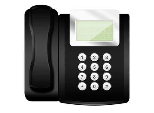 Modern office telephone icon (PSD) by psdGraphics